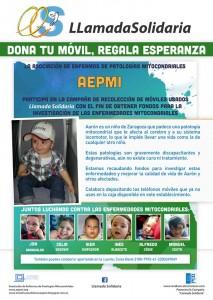 cartel de colaboración en la recogida de móviles para investigación enfermedades raras