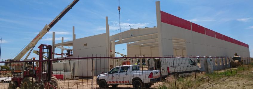 Levantada la estructura de nuestra nueva planta en la Plataforma Logística Plhus